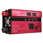 Оригинал 3000W 12V / 24V DC до 110V / 220V AC Солнечная Инвертор мощности LED Модифицированный преобразователь синусоидальной волны
