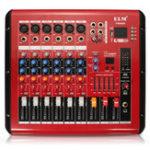 Оригинал PMR606 6-канальный профессиональный микшер USB Маленький DJ Karaoke KTV Power Усилитель Mixer Mixing Console