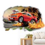 Оригинал Miico3DТворческийПВХстенынаклейки Home Decor Mural Art Removable Авто Наклейки на стену