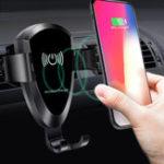 Оригинал Универсальный 10W Qi Wireless Fast Charge Gravity Auto Замок Авто Подставка для телефона для iPhone 8 X