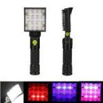 Оригинал 5W 16 LED Работа Свет Белый Красный Синий Освещение Авто Ремонт USB-факела Магнит Крюк Тент Кемпинг Фонарь
