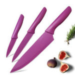Оригинал MYVITK6MK-NS458IN3штНержавеющаястальНож Установить Шеф-повар Non-Stick Цветной кодированный нож