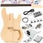 Оригинал DIY Неоконченная электрическая гитара Basswood Wood Body с линией Шея