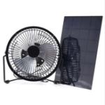 Оригинал ЧерныйСолнечнаяПанельныйвентиляторUSB8 дюймов 5W Вентиляция охлаждения для На открытом воздухе Travel Home Office