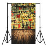 Оригинал 3x5ft Love Words Тематическая фотография Vinyl Backdrop Studio Background 0.9mx 1.5m