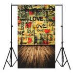 Оригинал 3x5ft Love Words Тематическая фотография Vinyl Backdrop Studio Background 0.9mx 1.5m