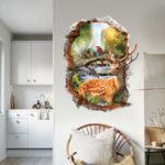 Оригинал Miico3DТворческийПВХстенынаклейки Home Decor Mural Art Съемные наклейки стены лося