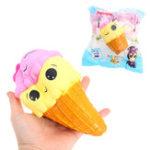 Оригинал  Smile Ice Cream Волшебный Squishy 18cm Медленный рост с подарком коллекции упаковки Soft Toy