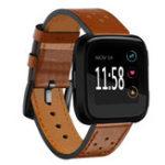Оригинал Запасной кожаный запястье Стандарты Часы Стандарты Ремень для Fitbit Versa
