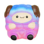 Оригинал Mini Squishy Sheep Galaxy Slow Rising Toy 6.3cm Soft Cute Squeze Подарочная коллекция