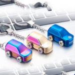 Оригинал Mini Авто Key Chain Electric Lighter USB аккумуляторная ветрозащитная дуговая зажигалка