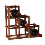 Оригинал Деревяннаястойкадлявинаскрасным вином 6 Бутылка для бутылок с винтовым стеклом Кухонная стеклянная бутылка для хранения