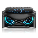 Оригинал S68LEDDigitalDimmableDeskАварийнаясигнализация Часы с беспроводным 19 Вт Smart Bluetooth Динамик Micro TF слот FM Радио AUX
