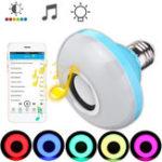 Оригинал E27 8W Bluetooth Динамик RGBW Светодиодный Проигрыватель беспроводной музыки Bulb Дистанционное Управление AC110-240V