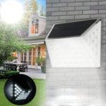 Оригинал Солнечная Мощность 53 LED PIR Движение Датчик Свет Водонепроницаемы На открытом воздухе Сад Охранная стена Лампа
