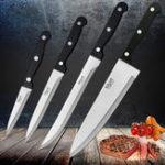 Оригинал 4pcMYVITНержавеющаястальНабордля повара шеф-повара 3CR13 Кухонный нож Кука Японский кухонный нож Sharp Meat Cleaver Kitchen Accessorie