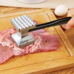 Оригинал KCASAKT-103SНержавеющаястальКухонныепринадлежности Две стороны Говядина Мясо Hammer Сырое мясо мясного мяса Hammer Smashing Meat Набор