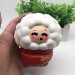 Оригинал Squishy Sheep 15.5 * 10.5 * 8cm Soft Slow Rising Collection Подарочная игрушка для подарков