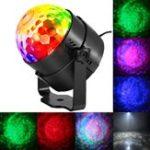 Оригинал 9W RGBW Дистанционный Sound Control LED Water Wave Effect Волшебный Ball Stage Light для рождественской вечеринки Disco