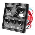 Оригинал 12V-24V Marine 5 Gang IP66 Dual USB LED Коммутационная панель для каравана Лодка