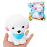 Оригинал Chameleon Puppy Squishy With Blue Scarf 9cm Медленный рост с подарком коллекции упаковки Soft Toy