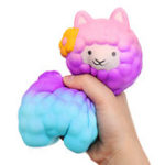 Оригинал 18см Jumbo Sheep Squishy Cute Alpaca Galaxy Slow Rising Ароматические забавы Игрушки для животных