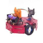 Оригинал DIY Robotbit Patrol Line Предотвращение препятствий Smart Robot Авто Набор С Microbit Expanding Board