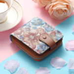 Оригинал BreniceЖенскоеКороткаякошелекNationalволовьякожа Floral 11 RFID Слоты для карт Монета Кошелек