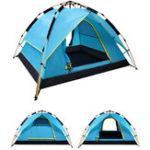 Оригинал 200x200x135см 3-4 Лицо Кемпинг Палатка Двойной слой Водонепроницаемы Windbreak Portable На открытом воздухе Оборудование