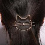 Оригинал 1Pcs Cute Hollow Kitty Кот Волосы Клип Женское Волосы Аксессуары