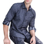 Оригинал МужскаявесенняямодаХлопокTurnDown Collar Fit Casual Рубашка