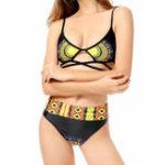 Оригинал Новая стильная печать Criss Cross High Waist Bikini