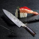 """Оригинал MYVITK6MK7CRКухонныеножи8""""дюймовый нож из нержавеющей стали высокого класса Замороженные Мясорубка деревянная ручка"""