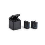 Оригинал TELESIN Зарядное устройство для хранения 3 порта с 2 PCS 1220mA Аккумуляторы Combo для GoPro 4/5/6 камера