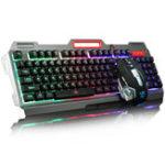 Оригинал 104Keys USB Wired с подсветкой Механический Рука-разыгрывание Клавиатура Мышь Мышь Pad Set