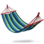 Оригинал 3РазмерКемпингДвойнаяхлопчатобумажнаяткань Гамак Стальная рама Стенд Combo Swing Chair Максимальная вместимость 250 кг
