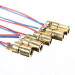 Оригинал 1шт 650нм 6мм 5V 5 мВт Красный Лазер Точечный диодный модуль Медь Головка Dimmable Лазер Вид