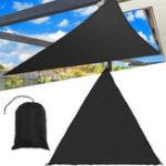 Оригинал 3/5MExtraHeavyDuty Shade Sail Sun Canopy На открытом воздухе Треугольник Сад Двор Маркизы Лето Авто Зонт