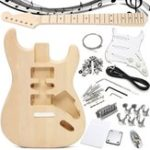 Оригинал DIY Неоконченные гитарные наборы Basswood Шея 21 Frets 6 String для ST Style