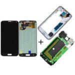 Оригинал Полная сборка LCD Дисплей Замена дигитайзера экрана и Батарея Обложка для Samsung Galaxy S5