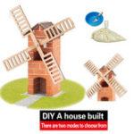Оригинал Мудрость построена DIY Модель Строительство Ветряная мельница Строительство Строительство Дом Пляжный Игрушка