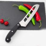 Оригинал KCASAKF-17HollowOutДизайнФруктовое мясо из высококачественной нержавеющей стали Легкая резка Sharp Kitchen Slicing Cleaver Knife