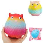 Оригинал Jumbo Squishy Rainbow Owl 12cm Soft Медленная восходящая игрушка с оригинальной упаковкой
