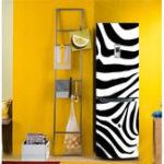 Оригинал 3D-дверной холодильник наклейки Self Adhesive Водонепроницаемы Крышка шкафа DIY Настенная бумага Room Home Decor