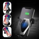 Оригинал Universal Qi Беспроводная быстрая зарядка Gravity Auto Замок Авто Подставка для мобильного телефона для iPhone X Мобильный телефон