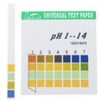 Оригинал Универсальные испытательные полоски PH Полный диапазон 1-14 Тестер индикаторной бумаги 100 Strips Boxed C Таблица цветов