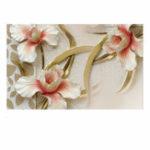 Оригинал Современная 3D Wall Paper Roll Лилия цветок стены стикер Спальня фон Room Home Mural Decor