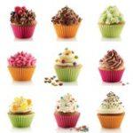 Оригинал 12PiecesСиликоновыйCakeCupsSet Выпечка для выпечки Muffin для выпечки Nonstick и Heat Resistant Многоразовые Силиконовый Торт-формы