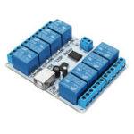 Оригинал 12V DC USB 8-канальный релейный модуль SPDT SRD-12VDC-SL-C