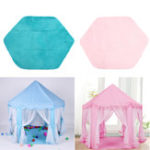 Оригинал Non-slip Baby Play Mat Short Hair Game Plush Mat Kids Tent Hexagon Princess Castle Playhouse Pad